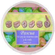 Easter Spanish Round Beach Towel