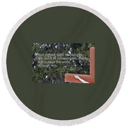 Easter Thoughts Round Beach Towel