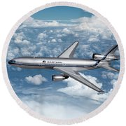 Eastern Air Lines Dc-10-30 Round Beach Towel