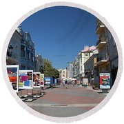 Eastern European Town Round Beach Towel