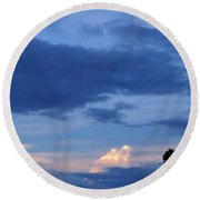 Eastern Sunset Over Hidden Lakes Round Beach Towel