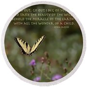Eastern Tiger Swallowtail Butterfly - The Beauty Of The Wild Round Beach Towel