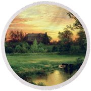 Easthampton Round Beach Towel by Thomas Moran