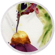 Eat Fresh II Round Beach Towel