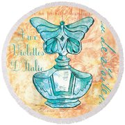 Eau De Toilette Round Beach Towel