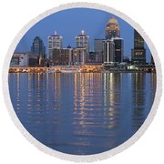 Ebb And Flow Of Louisville Round Beach Towel