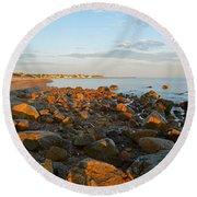 Ebb Tide On Cape Cod Bay Round Beach Towel