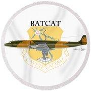Ec-121r Batcatcavete Round Beach Towel