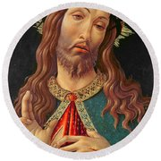 Ecce Homo Or The Redeemer Round Beach Towel by Botticelli