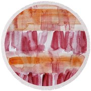 Coneflowers Particles Round Beach Towel