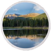 Echo Lake 6 Round Beach Towel