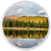 Echo Lake Painterly 1 Round Beach Towel