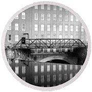 Echoes Of Mills Past Round Beach Towel