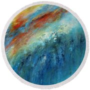 Echoes Of Sunset Round Beach Towel