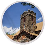 Eckert Colorado Presbyterian Church Round Beach Towel