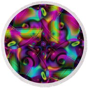 Eclectic Round Beach Towel