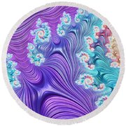 Eclectic Ripples Round Beach Towel