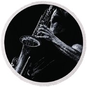 Eclectic Sax Round Beach Towel