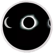 Eclipse Progression Round Beach Towel