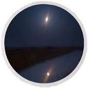 Eclipsed Round Beach Towel