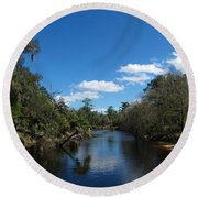 Econlockhatchee River Round Beach Towel