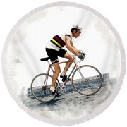 Eddie Merckx #2 Round Beach Towel