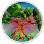 Eden's Tree Round Beach Towel