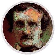 Edgar Allan Poe Artsy 2 Round Beach Towel