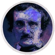 Edgar Allan Poe, Artsy 1 Round Beach Towel