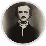 Edgar Allen Poe Round Beach Towel