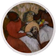 Edgar Degas - The Milliners - 1898 Round Beach Towel
