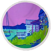 Edgartown Porches Round Beach Towel
