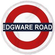 Edgware Road Round Beach Towel