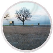 Edinburgh - Two Trees At Caption Hill Round Beach Towel