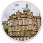 Edinburgh Bank Of Scotland Building Round Beach Towel
