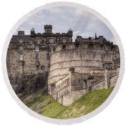 Edinburgh Castle Round Beach Towel