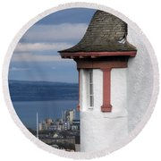 Edinburgh Scotland Round Beach Towel
