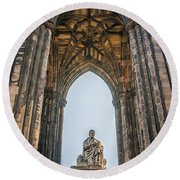Edinburgh Sir Walter Scott Monument Round Beach Towel