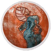 Edith - Tile Round Beach Towel