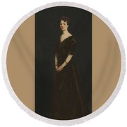 Edith Reynolds By Robert Henri Round Beach Towel