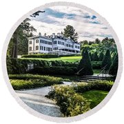Edith Wharton Mansion Round Beach Towel