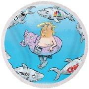 Editorial Cartoonist Round Beach Towel