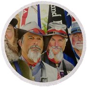 Edmund Ruffin Fire Eaters Color Guard 2016 Round Beach Towel