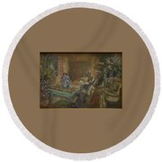 Edouard Vuillard  Sewing Party At Loctudy Round Beach Towel