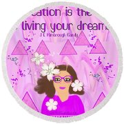 Education Is The Key Round Beach Towel