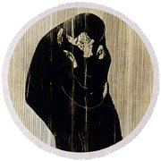 Edvard Munch: The Kiss Round Beach Towel