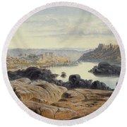 Edward Lear 1812 - 1888 British Philae Round Beach Towel