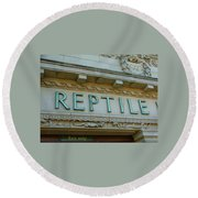 Edwardian Reptile House  Round Beach Towel