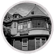 Eerie Winchester House  Round Beach Towel