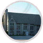 Egg Harbor Church Round Beach Towel